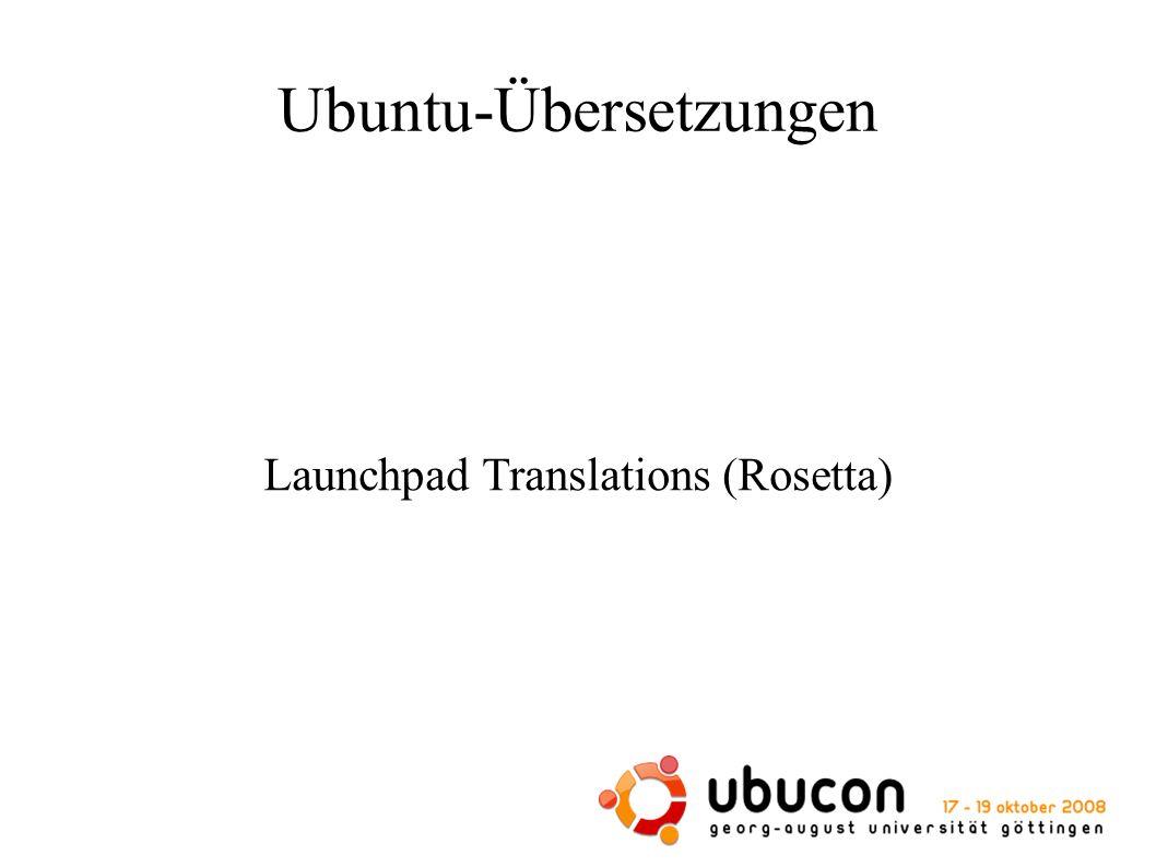 Ubuntu-Übersetzungen Launchpad Translations (Rosetta)