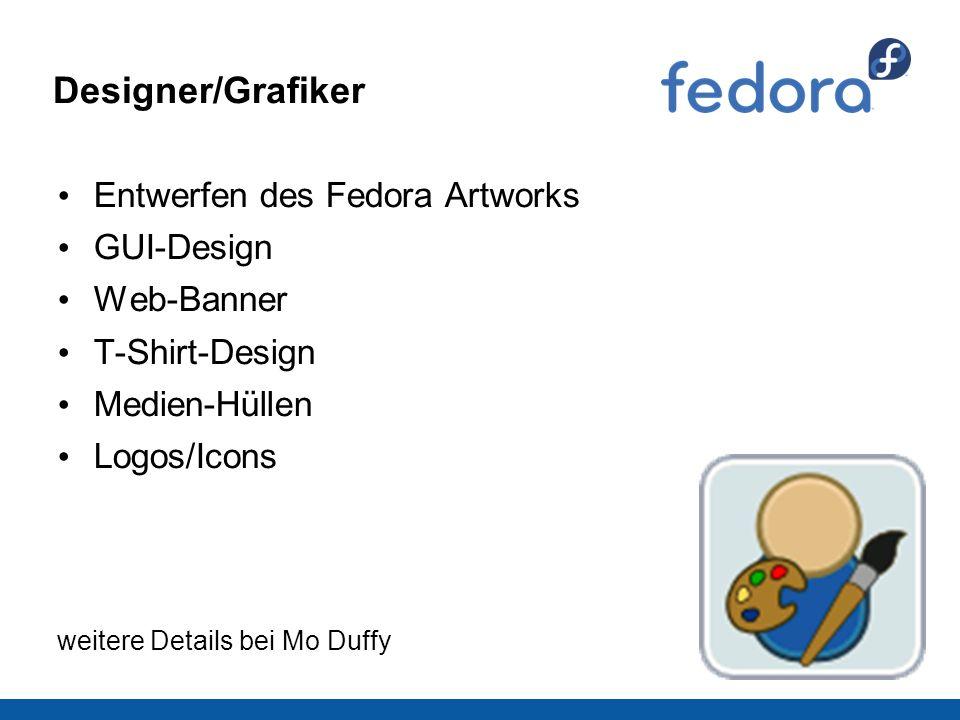 Designer/Grafiker Entwerfen des Fedora Artworks GUI-Design Web-Banner T-Shirt-Design Medien-Hüllen Logos/Icons weitere Details bei Mo Duffy