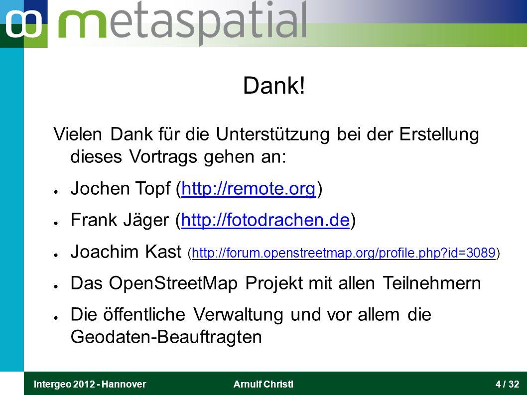 Intergeo 2012 - HannoverArnulf Christl25 / 32