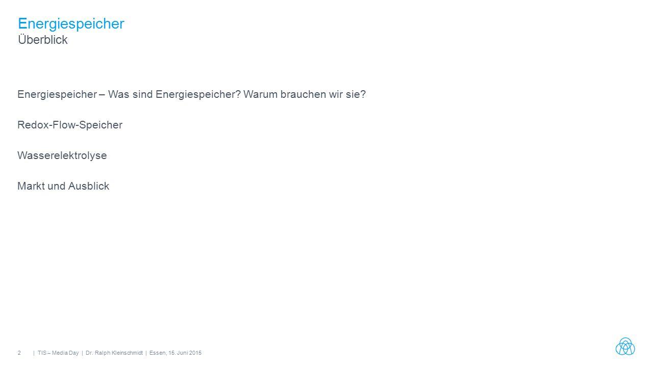 2| TIS – Media Day | Dr. Ralph Kleinschmidt | Essen, 15.