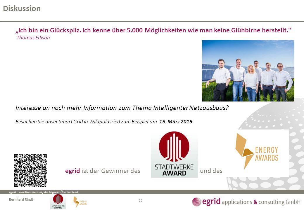 """egrid – eine Dienstleistung des Allgäuer Überlandwerk Bernhard Rindt """"Ich bin ein Glückspilz. Ich kenne über 5.000 Möglichkeiten wie man keine Glühbir"""