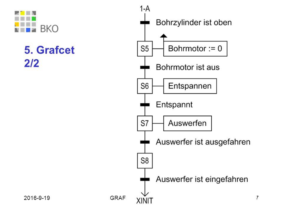 19.09.2016GRAFCET - Bernhard Plagemann 17 5. Grafcet 2/2