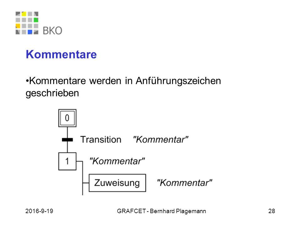19.09.2016GRAFCET - Bernhard Plagemann 28 Kommentare Kommentare werden in Anführungszeichen geschrieben