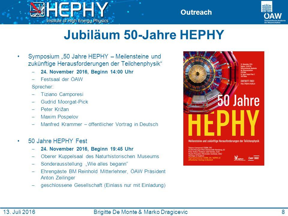 """Outreach Jubiläum 50-Jahre HEPHY Symposium """"50 Jahre HEPHY – Meilensteine und zukünftige Herausforderungen der Teilchenphysik""""  24. November 2016, Be"""