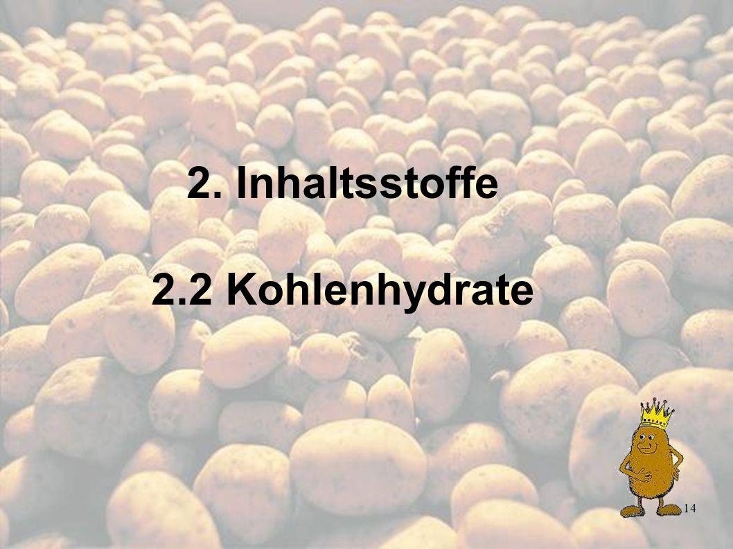 14 2. Inhaltsstoffe 2.2 Kohlenhydrate