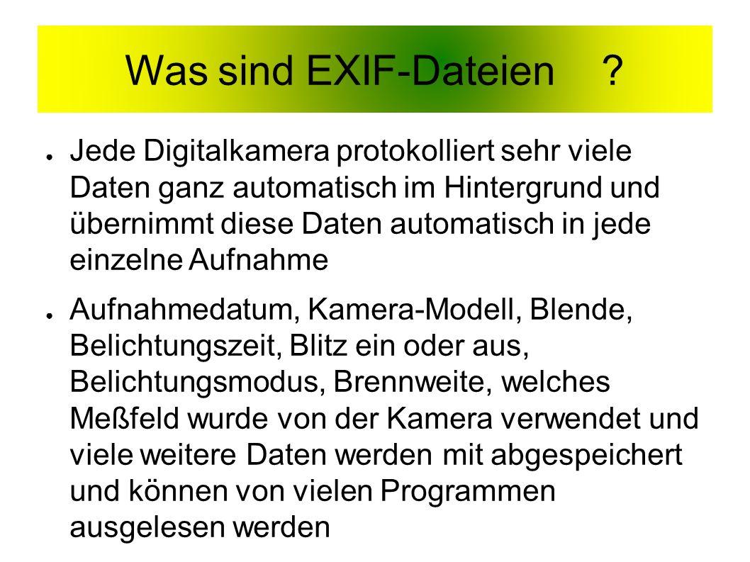 Was sind EXIF-Dateien.