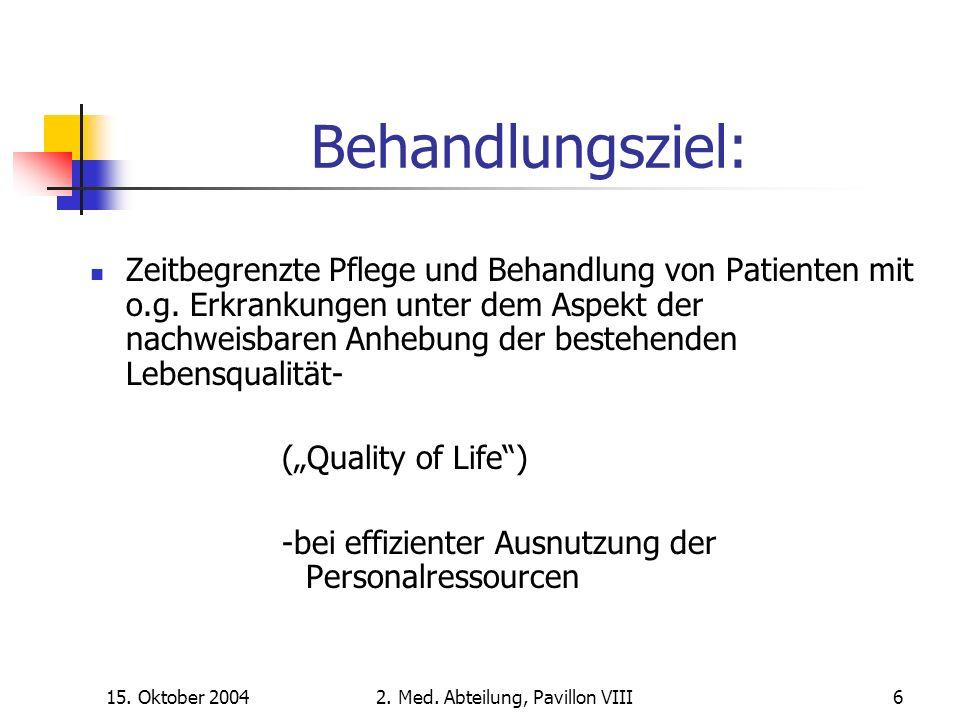 15. Oktober 20042. Med. Abteilung, Pavillon VIII37 RR-Verlauf bei Ausgangswerten über 135/80