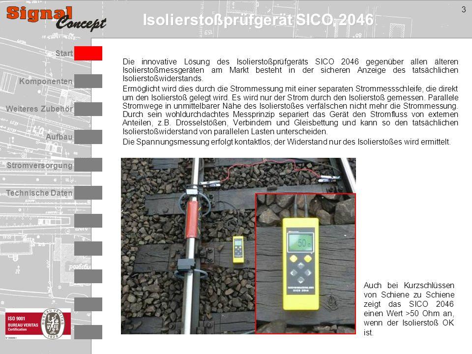 Isolierstoßprüfgerät SICO 2046 Stromversorgung Technische Daten Start Aufbau Weiteres Zubehör Komponenten 3 Die innovative Lösung des Isolierstoßprüfg