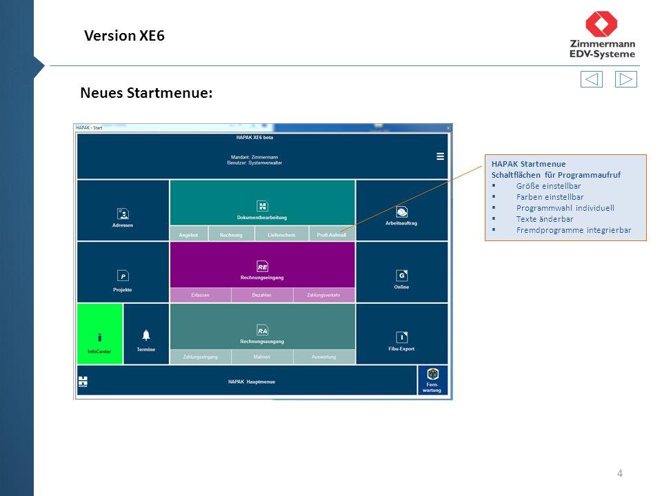 5 Neue Oberfläche: Bedienung mit neuen Schaltflächen  Schnelleres Arbeiten und direkte Aufrufe möglich  Verschieden Designs und Farben wählbar Bedienung mit neuen Schaltflächen  Buttons sind links oben nebeneinander angeordnet.