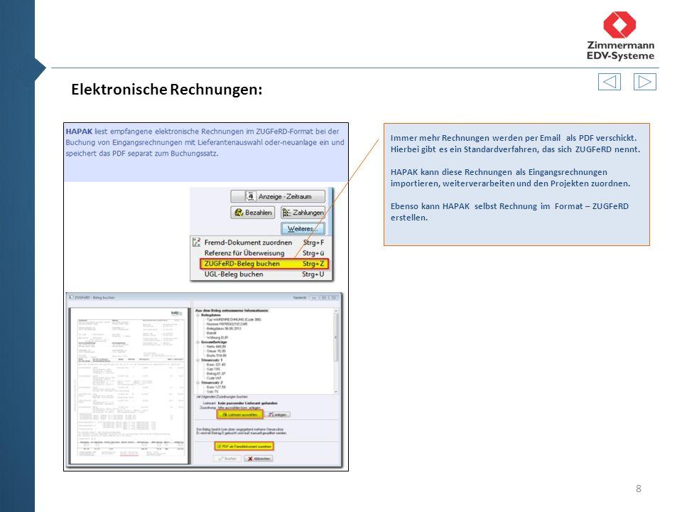 8 Elektronische Rechnungen: Immer mehr Rechnungen werden per Email als PDF verschickt.