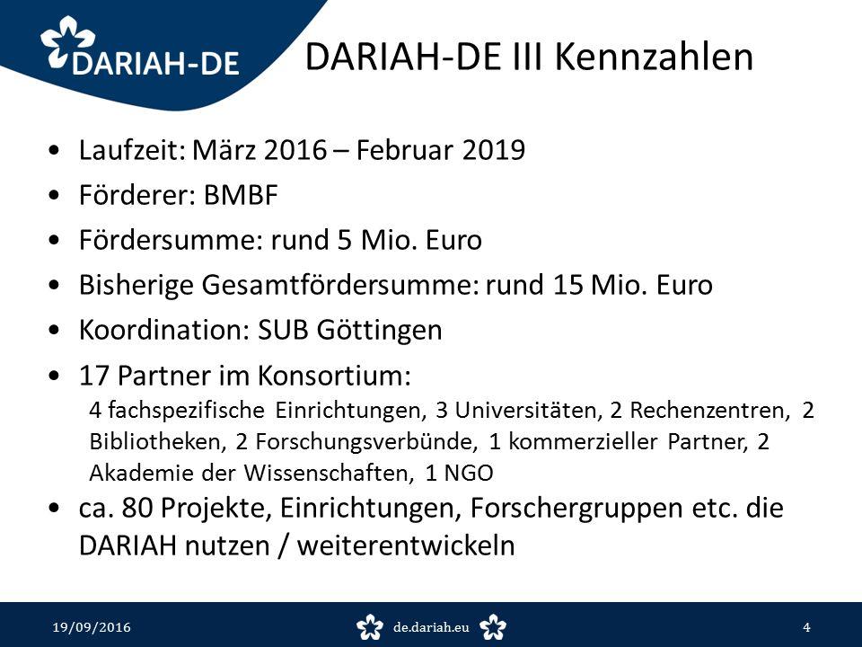 Repositorien 19/09/2016de.dariah.eu15 https://de.dariah.eu/repository https://textgridrep.org/