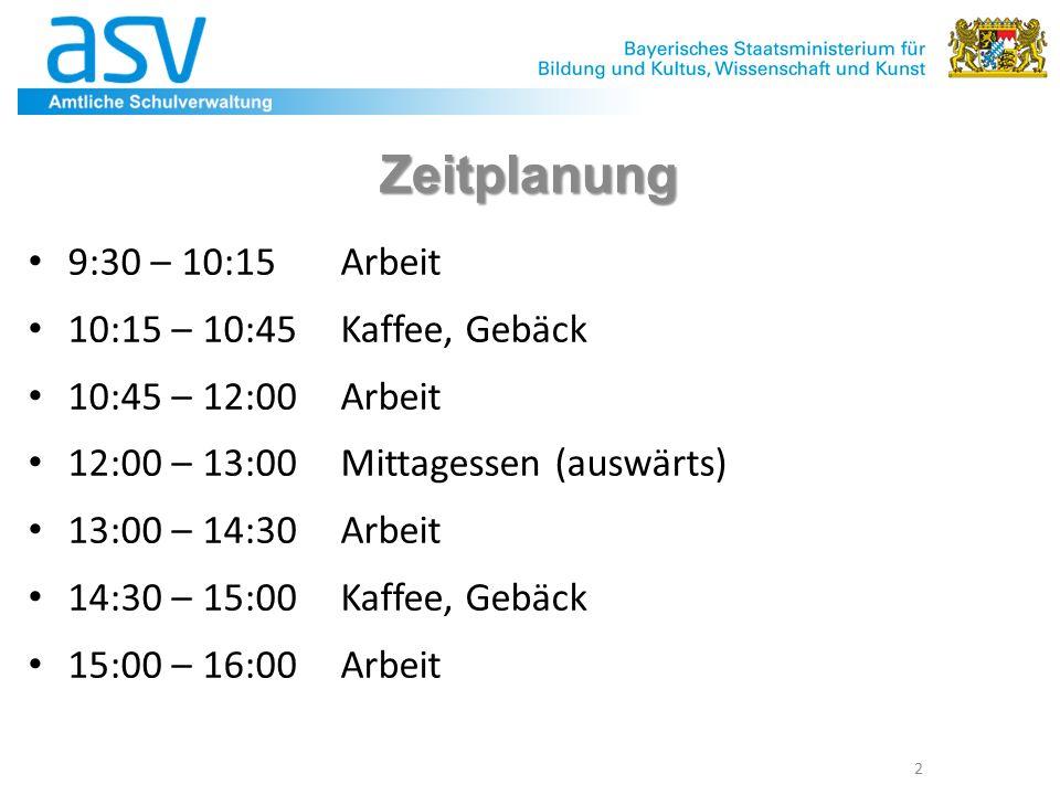 2 Zeitplanung 9:30 – 10:15 Arbeit 10:15 – 10:45 Kaffee, Gebäck 10:45 – 12:00 Arbeit 12:00 – 13:00 Mittagessen (auswärts) 13:00 – 14:30 Arbeit 14:30 – 15:00 Kaffee, Gebäck 15:00 – 16:00 Arbeit