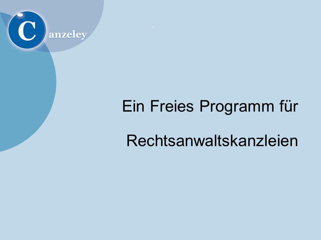 Ein Freies Programm für Rechtsanwaltskanzleien