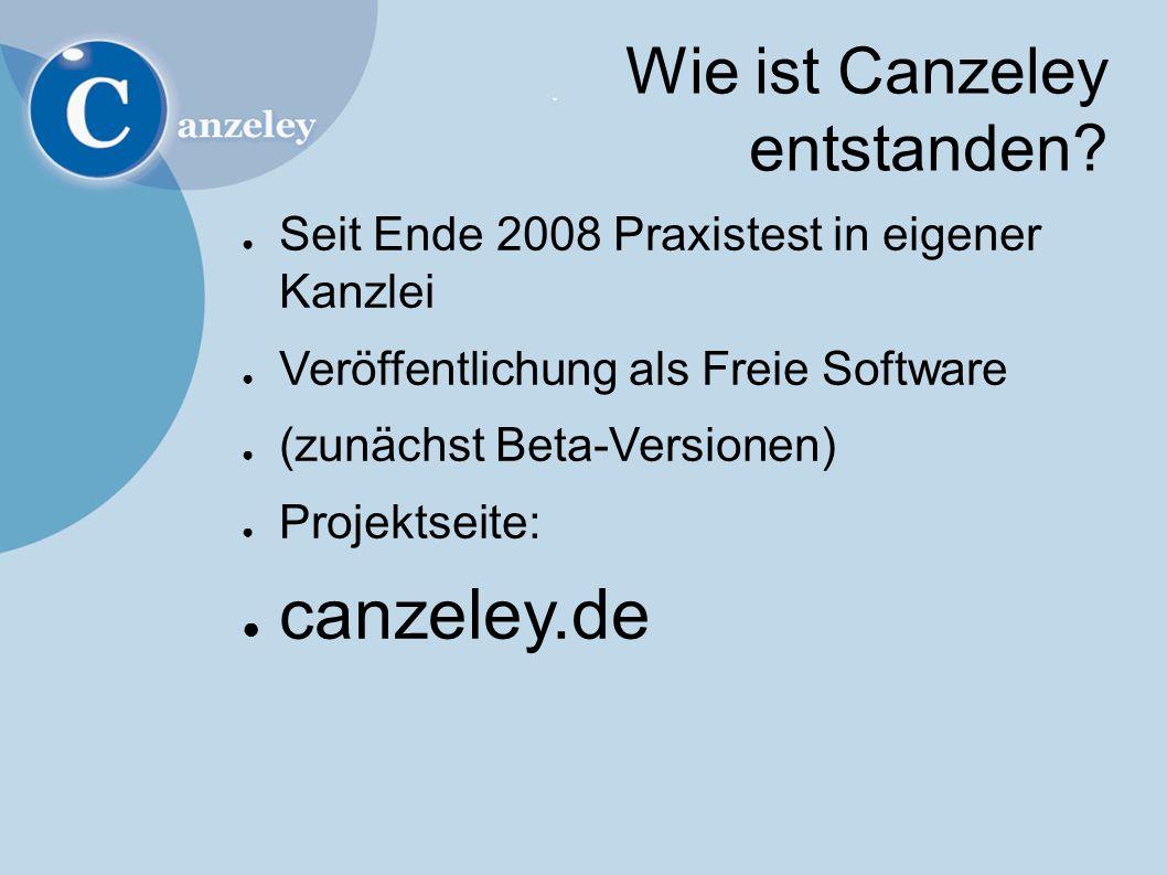 Wie ist Canzeley entstanden.
