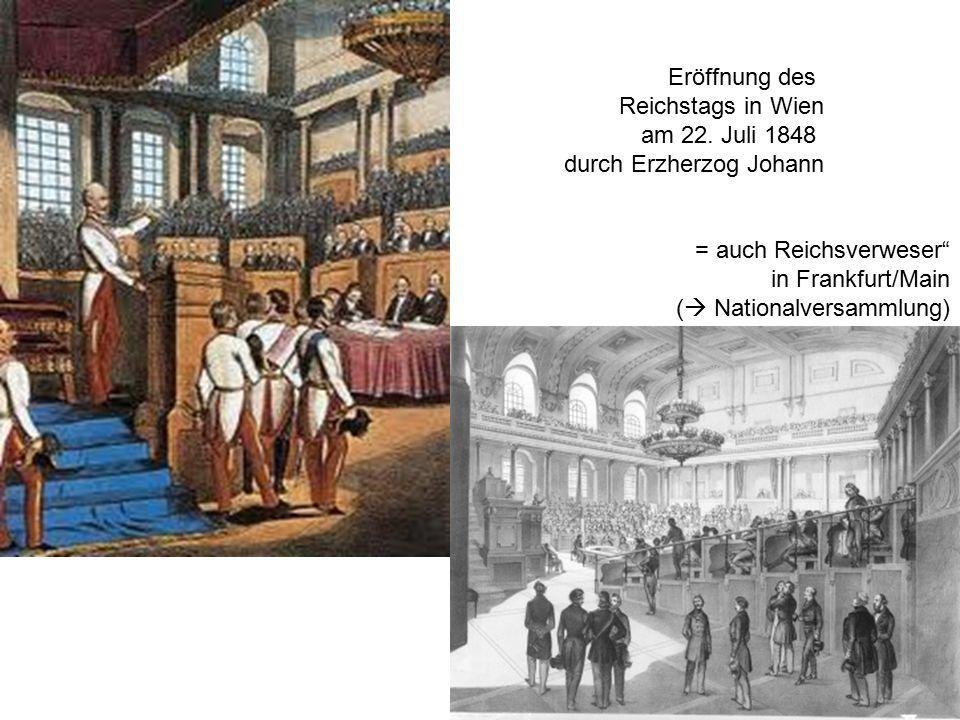 Eröffnung des Reichstags in Wien am 22.