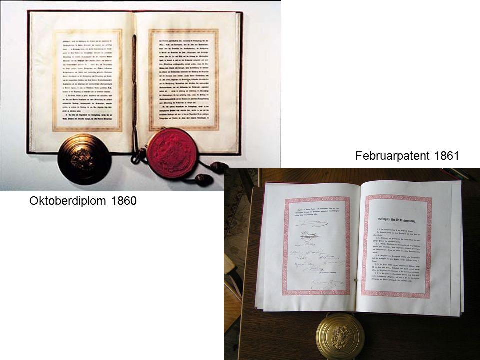 Oktoberdiplom 1860 Februarpatent 1861