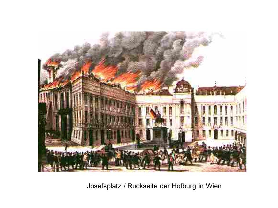 Josefsplatz / Rückseite der Hofburg in Wien