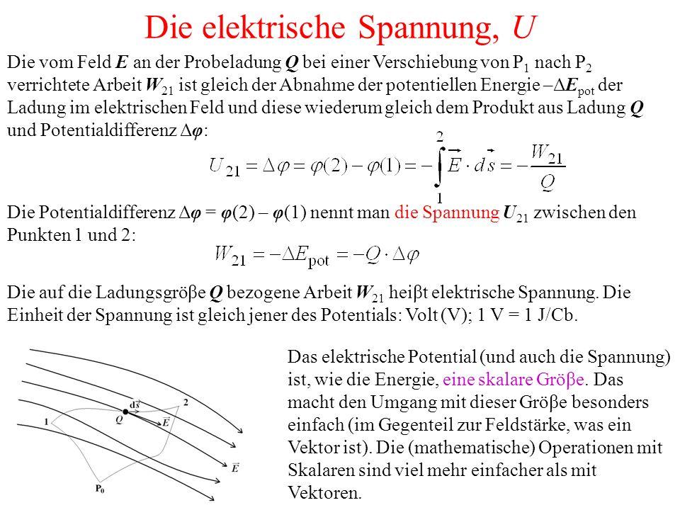 Veranschaulichung des elektrischen Felds und des elektrischen Potentials Feldlinien: die Tangente in jedem Punkt einer Feldlinie gibt die Richtung der Kraft an, die eine positive (Test)Ladung in diesem Punkt erfahren würde.