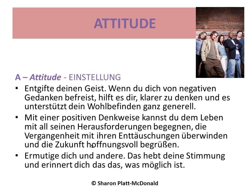 ATTITUDE A – Attitude - EINSTELLUNG Entgifte deinen Geist.