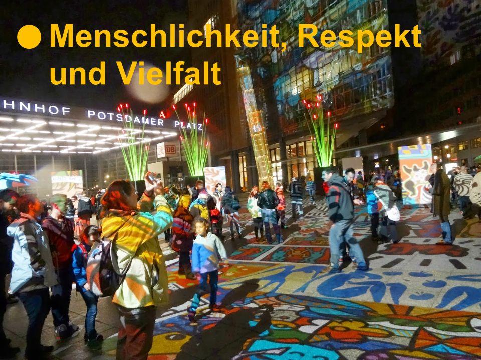 Menschlichkeit, Respekt und Vielfalt