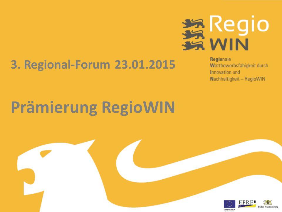 3. Regional-Forum 23.01.2015 Prämierung RegioWIN 1