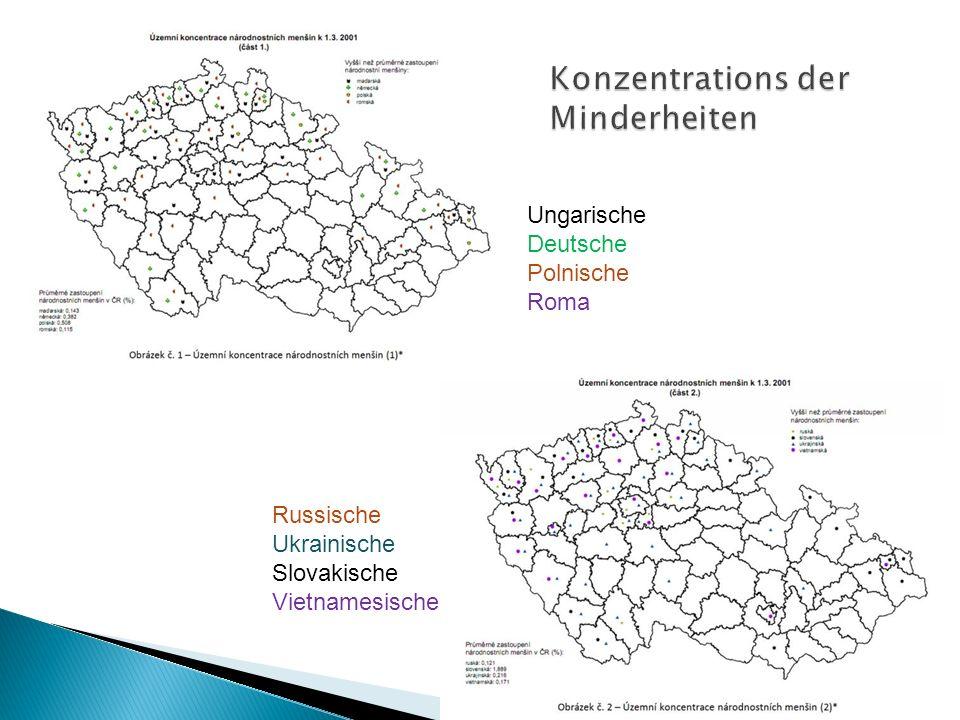 Ungarische Deutsche Polnische Roma Russische Ukrainische Slovakische Vietnamesische