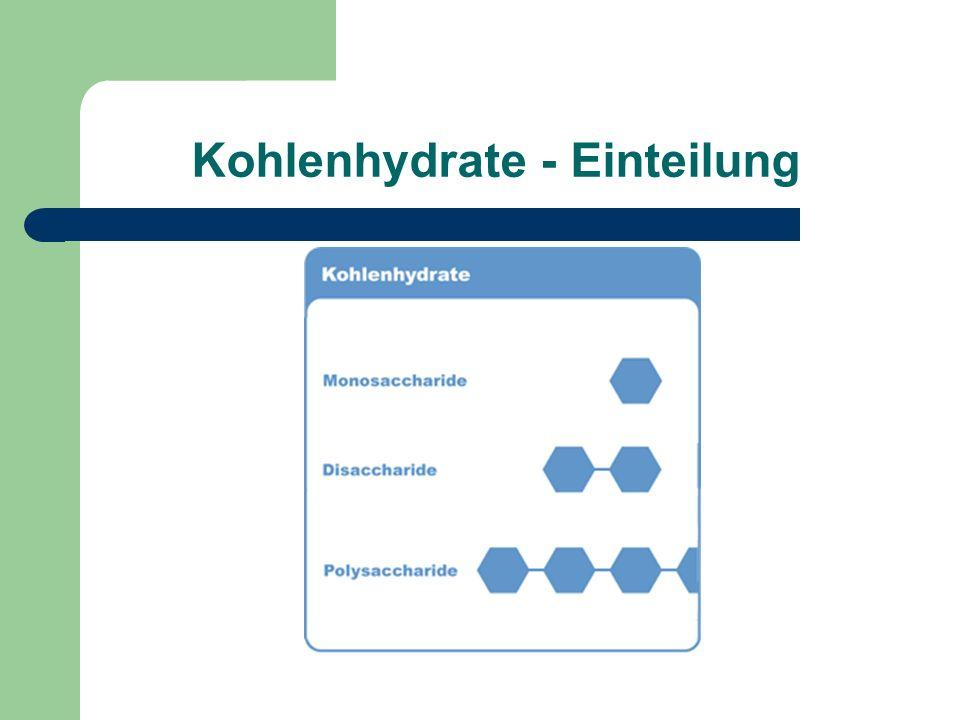 Kohlenhydrate - Einteilung