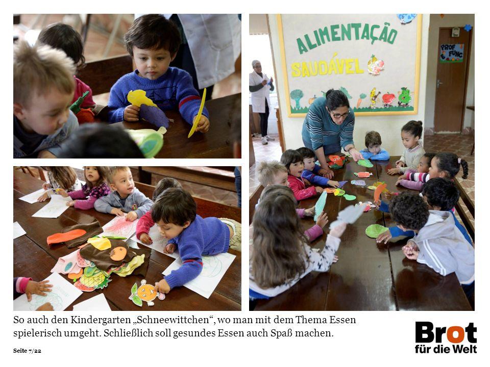 """Seite 7/22 So auch den Kindergarten """"Schneewittchen"""", wo man mit dem Thema Essen spielerisch umgeht. Schließlich soll gesundes Essen auch Spaß machen."""