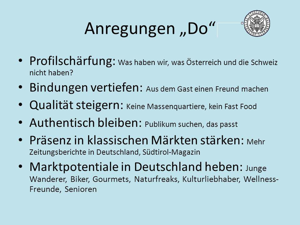"""Anregungen """"Do Profilschärfung: Was haben wir, was Österreich und die Schweiz nicht haben."""