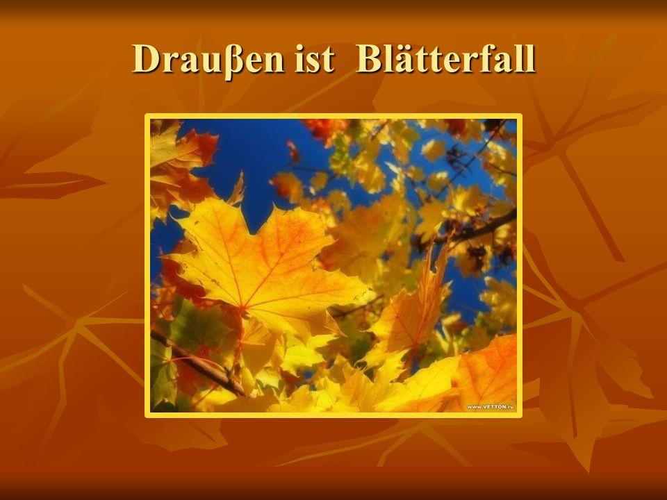 Drauβen ist Blätterfall