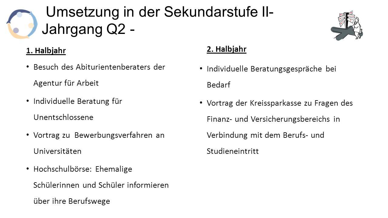 Umsetzung in der Sekundarstufe II- Jahrgang Q2 - 1.