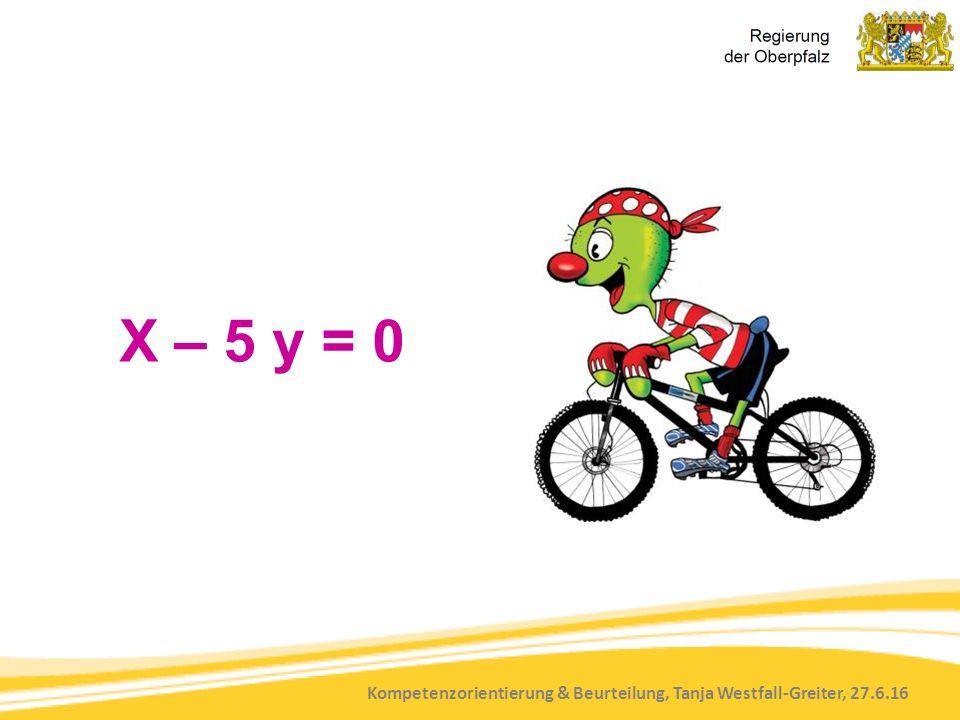 Kompetenzorientierung & Beurteilung, Tanja Westfall-Greiter, 27.6.16 X – 5 y = 0
