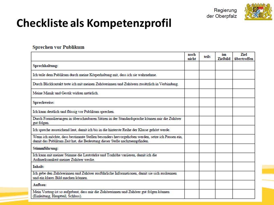 Kompetenzorientierung & Beurteilung, Tanja Westfall-Greiter, 27.6.16 Checkliste als Kompetenzprofil