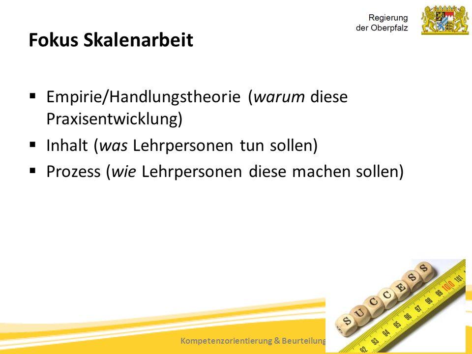 Kompetenzorientierung & Beurteilung, Tanja Westfall-Greiter, 27.6.16 Fokus Skalenarbeit  Empirie/Handlungstheorie (warum diese Praxisentwicklung)  Inhalt (was Lehrpersonen tun sollen)  Prozess (wie Lehrpersonen diese machen sollen)