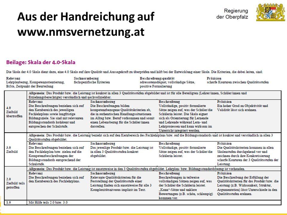 Kompetenzorientierung & Beurteilung, Tanja Westfall-Greiter, 27.6.16 Aus der Handreichung auf www.nmsvernetzung.at
