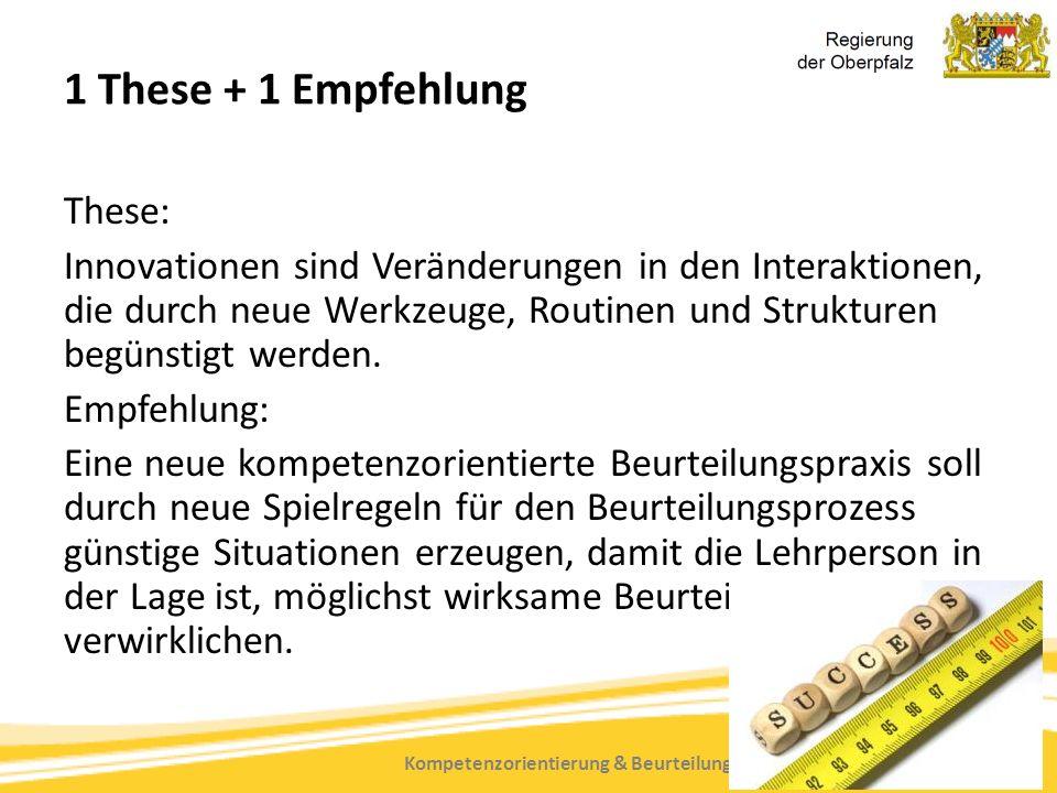 Kompetenzorientierung & Beurteilung, Tanja Westfall-Greiter, 27.6.16 1 These + 1 Empfehlung These: Innovationen sind Veränderungen in den Interaktione