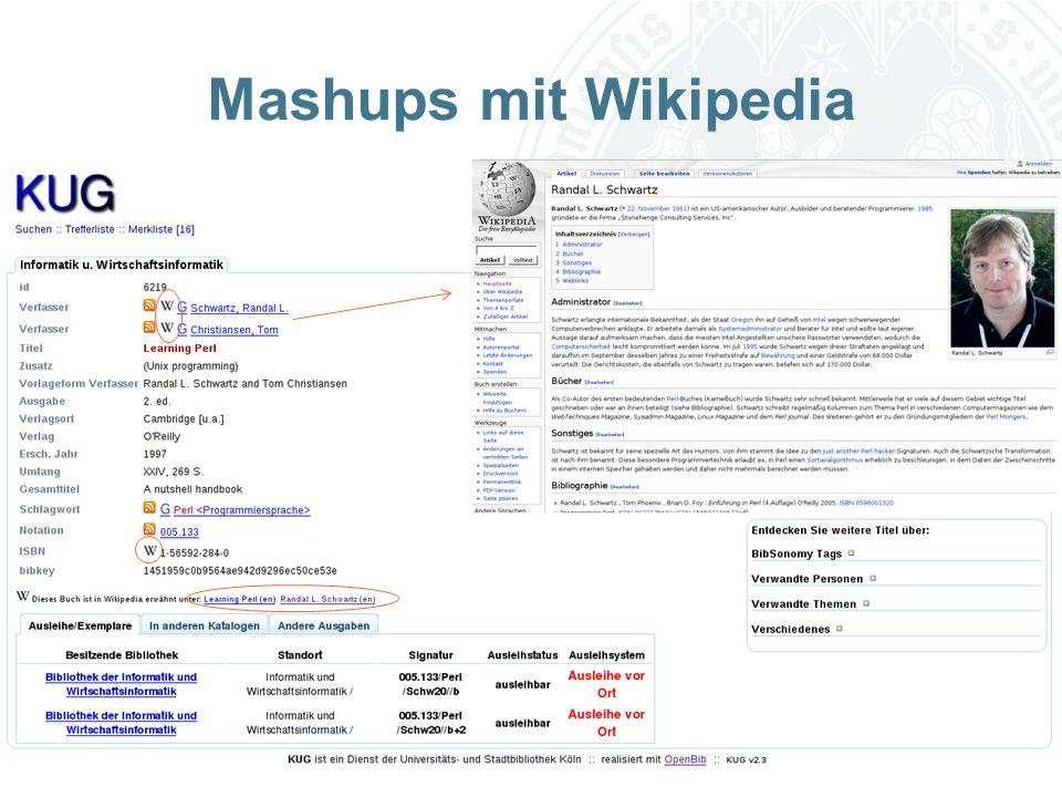 Universität zu Köln Mashups mit Wikipedia