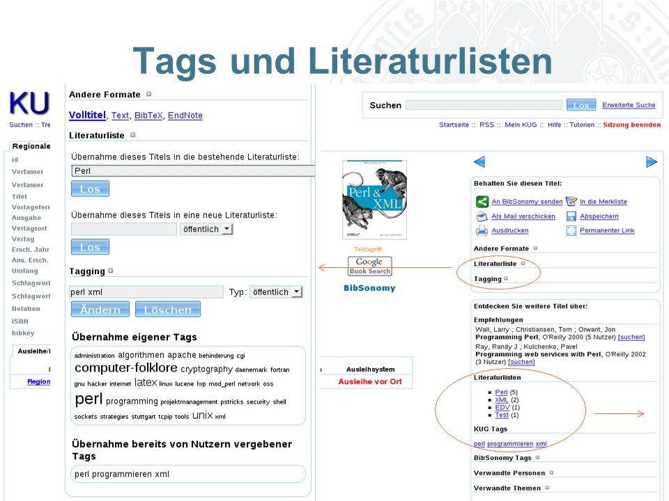 Universität zu Köln Tags und Literaturlisten