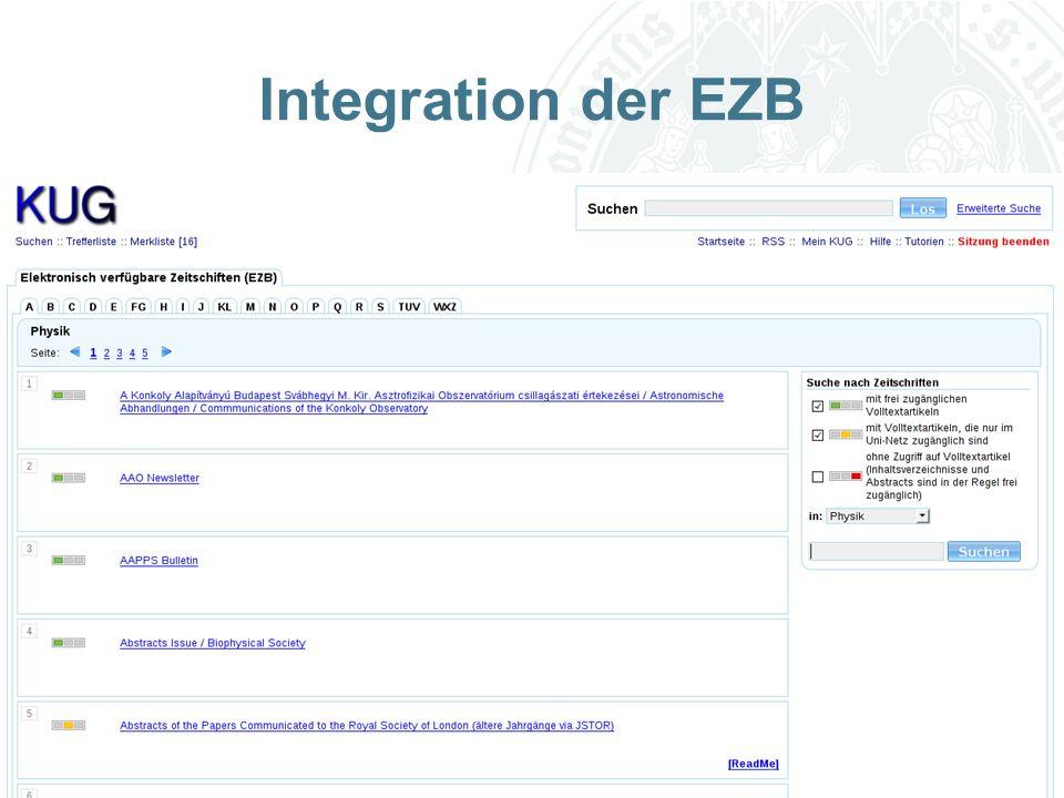 Universität zu Köln Integration der EZB