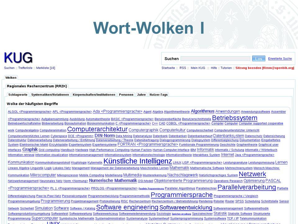 Universität zu Köln Wort-Wolken I