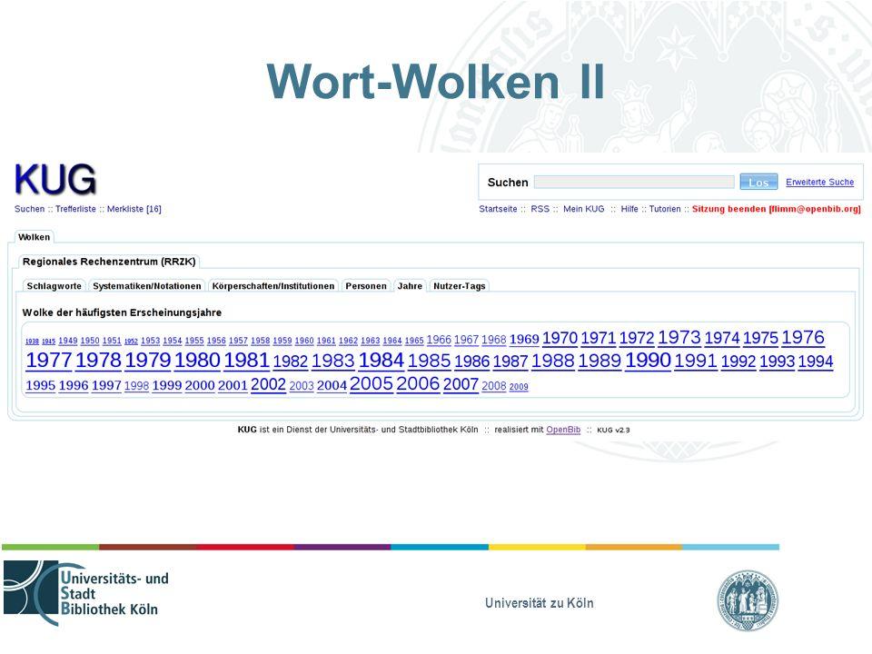 Universität zu Köln Wort-Wolken II