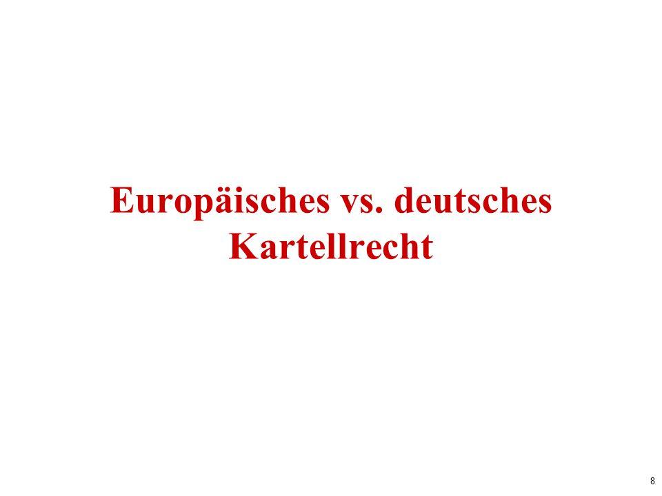 8 Europäisches vs. deutsches Kartellrecht