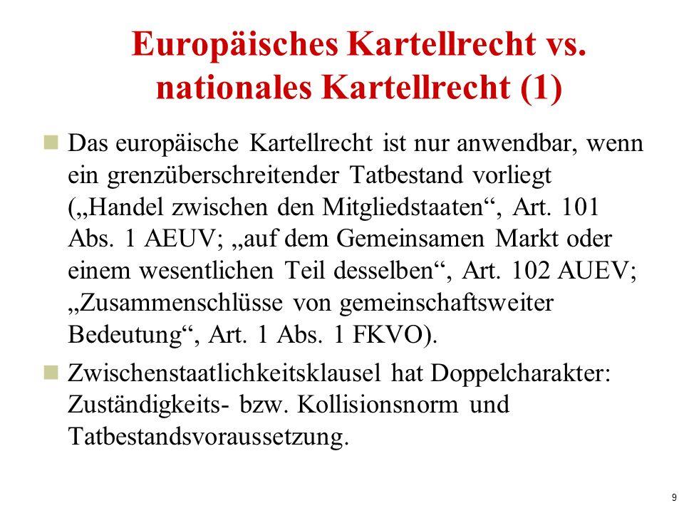9 Europäisches Kartellrecht vs.
