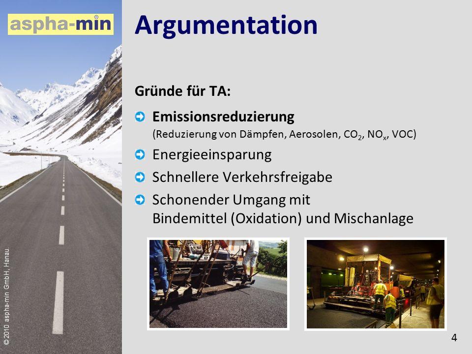 © 2010 aspha-min GmbH, Hanau.Anwendung (NV) Vorteil: Selbst hochstandfeste Bindemittel bzw.