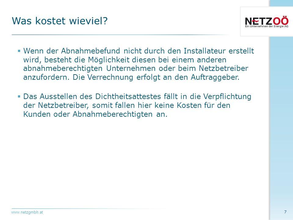 www.netzgmbh.at  Für erdgasversorgte Heizungsanlagen gemäß § 30 Abs.