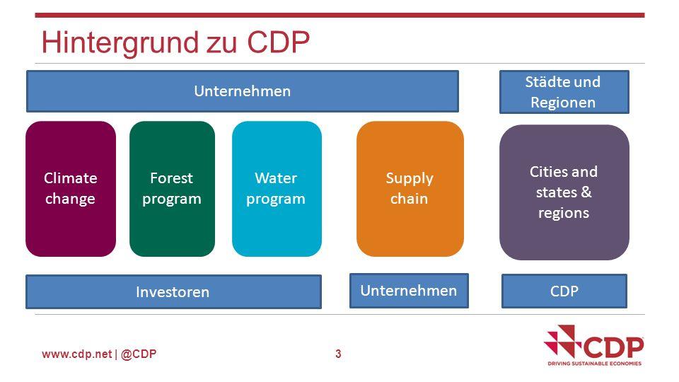 www.cdp.net | @CDP Teilnehmende Städte 4