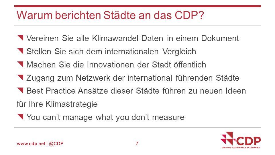 www.cdp.net | @CDP Warum nehmen Städte am CDP teil.