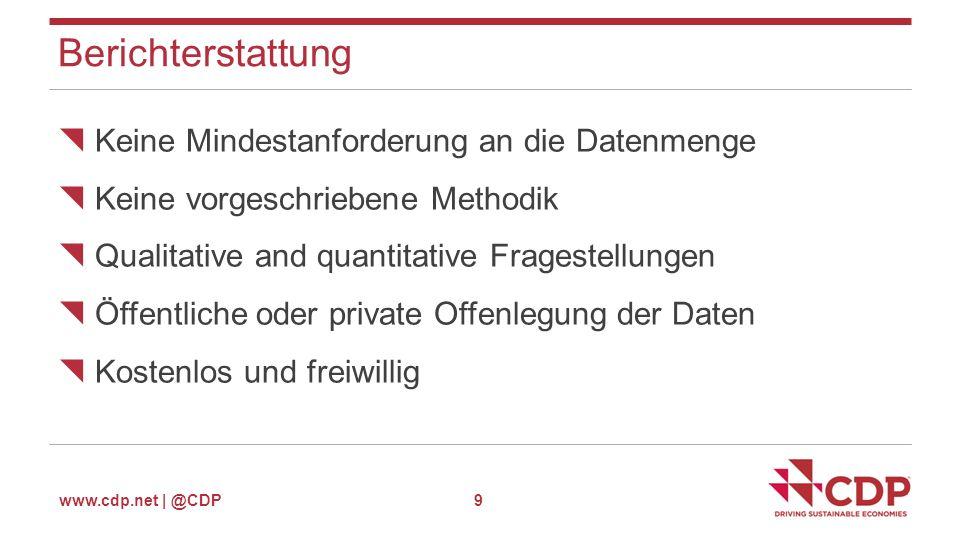 www.cdp.net | @CDP Datenauswertung- Cities Analytics Page 20 Cities analytics