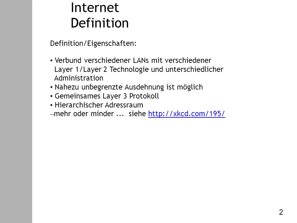 Datenkommunikation – V. Internet Protokoll Internet Protokollschichten 3