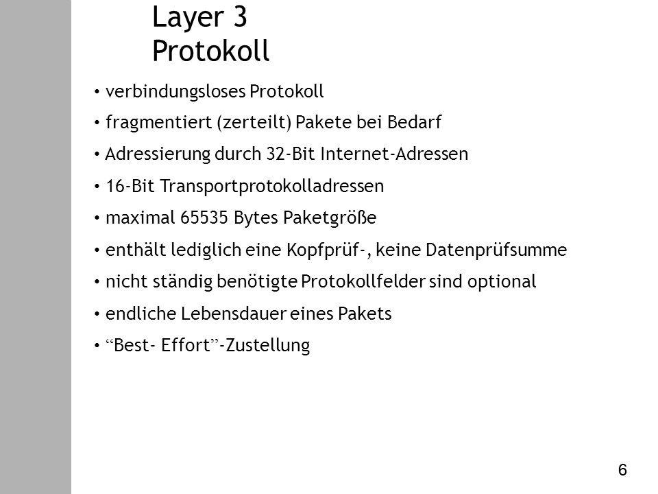 Datenkommunikation – V. Internet Protokoll Routing – Link State - OSPF (5) 47 47